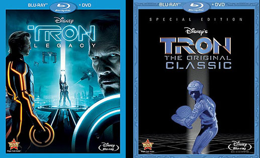 TRON: LEGACY and Original TRON on DVD and Blu-Ray!