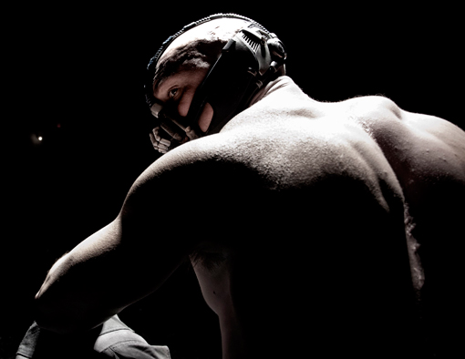 First image of Bane from Christopher Nolan's upcoming THE DARK KNIGHT RISES!