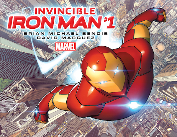 invincible iron man marvel david marquez justin ponsor