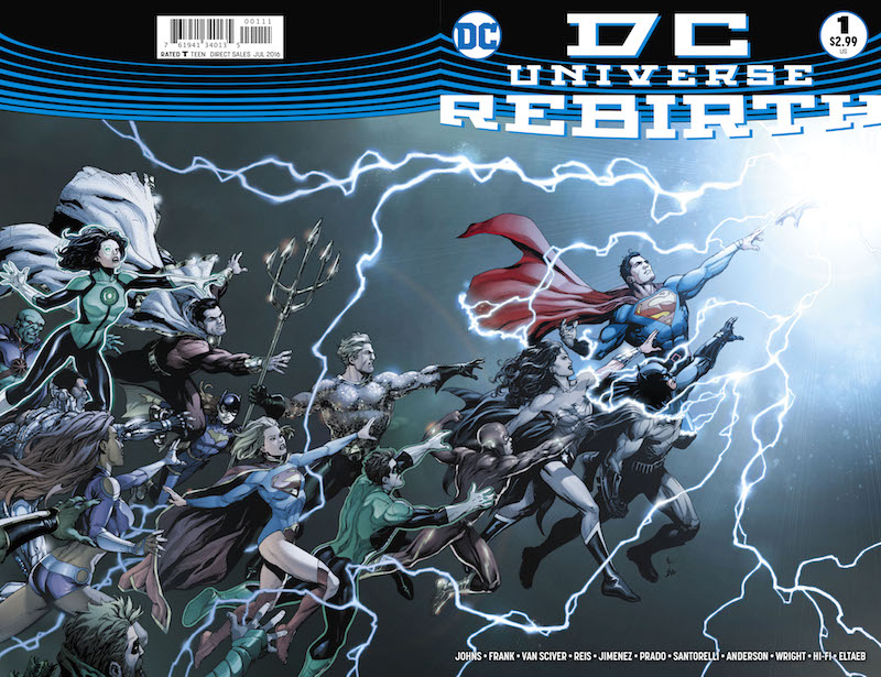 dc universe rebith Gary Frank and Brad Anderson