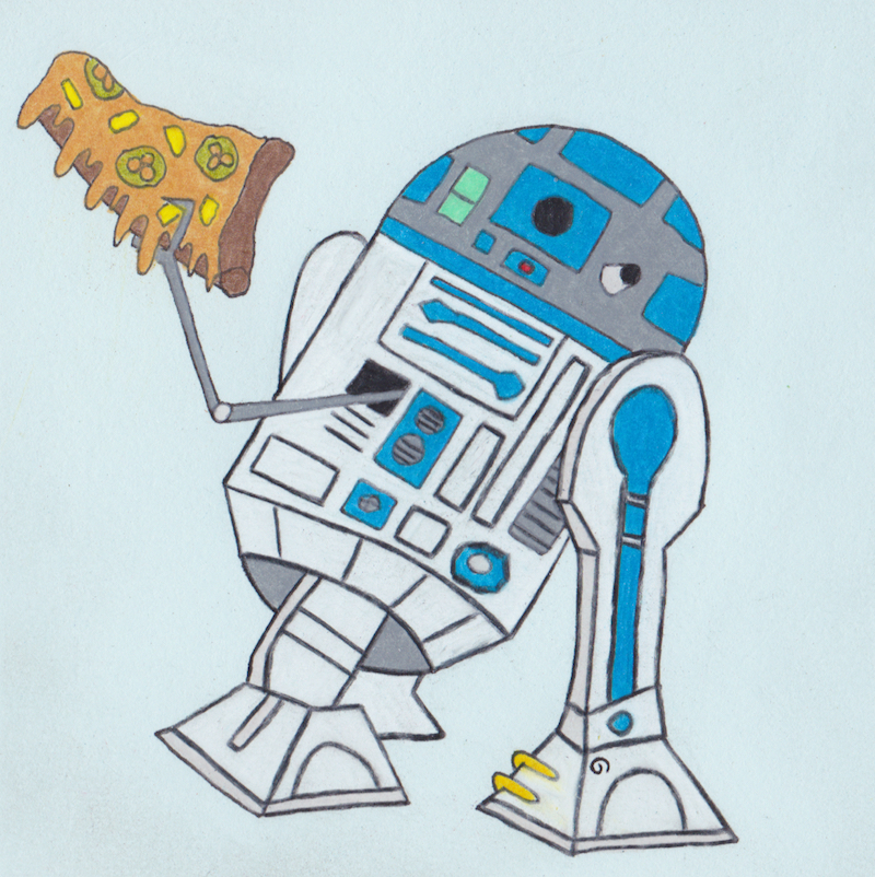 star wars r2-d2 pizza