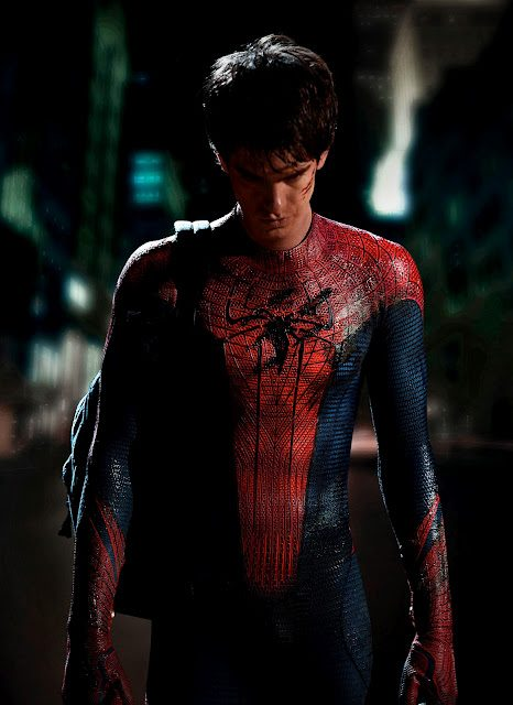 First look at Andrew Garfield in costume as Spider-Man!