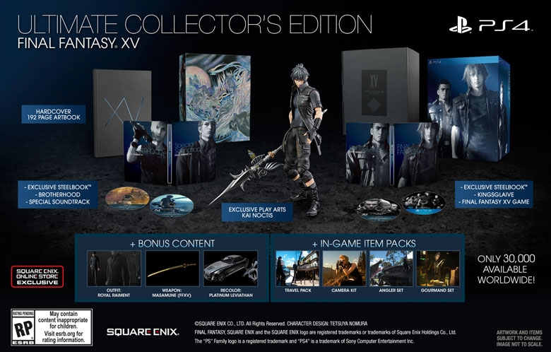 final fantasy XV collecors edition square enix
