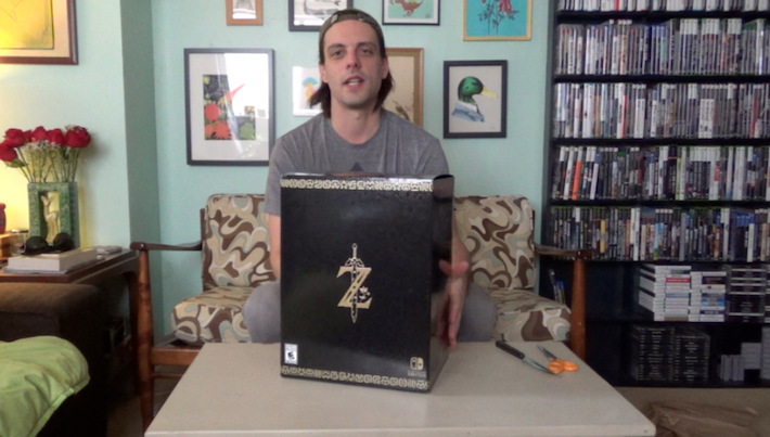 "Unboxing THE LEGEND OF ZELDA: BREATH OF THE WILD ""Master Edition"" for the Nintendo Switch"