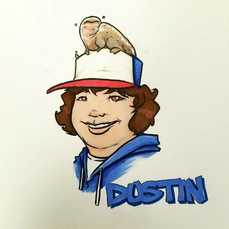 Dustin from Netflix Stranger Things